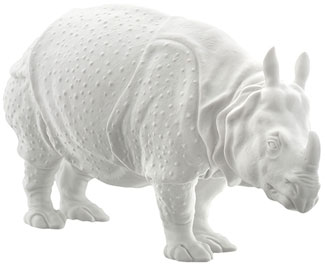Prozellanfigur Rhinozeros