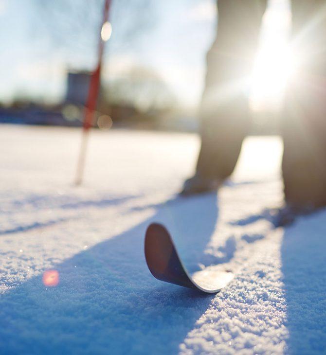 Skilanglauf bei strahlendem Sonnenschein